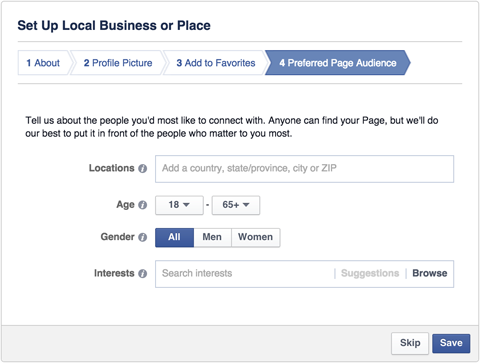 Setting Up A Facebook Business Page: Local Business or Place