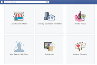 Setting Up A Facebook Business Page: Facebook Page Options