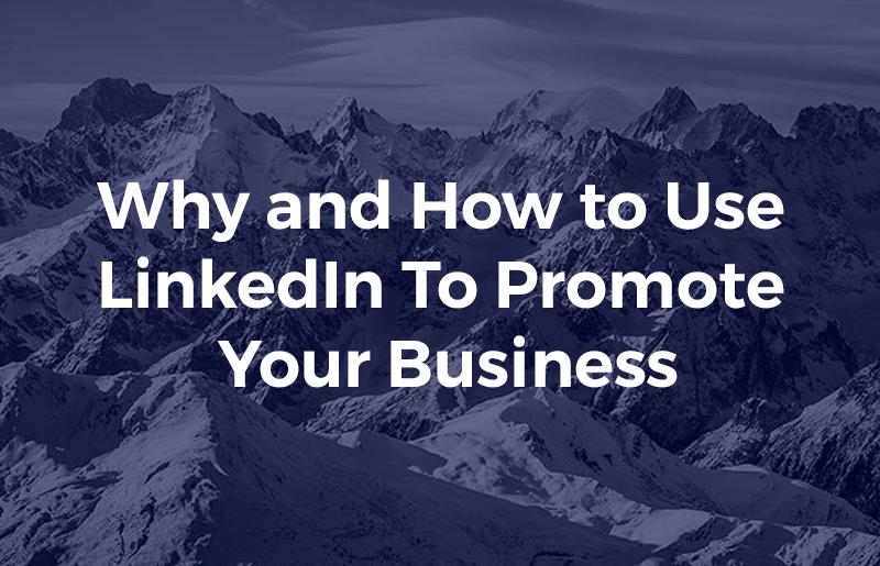Why and How to Use LinkedIn To Promote Your Business
